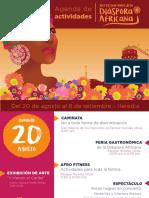 Agenda Festival Flores de la Diáspora Africana