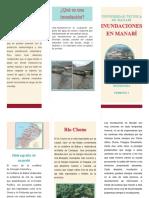 Triptico sobre inundaciones en Manabí