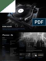Pioneer PLX-1000 Spec Sheet