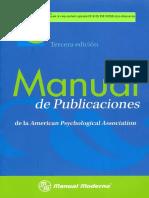 APA 2010 Manual APA 3 Ed