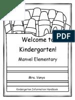 kindergarten information handbook 2016-2017