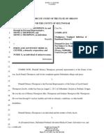 Estate of Jacob Thompson vs. Portland Adventist Med Cntr