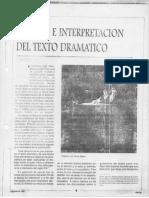 ANALISIS E INTERPRETACIÓN  DEL TEXTO DRAMATICO (1)
