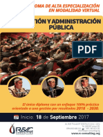Diploma de Especializacion en Gestion y Administracion Publica