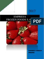 Plan de Producción Frozzen Food