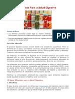 10 Súper Alimentos Para La Salud Digestiva