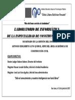 Laboratorio de Informatica de La Especialidad de Construcción Civil