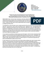 Travis County Commissioners Court authorizes revised reimbursement practices for STAR Flight