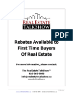 Rebates for First Time Buyers
