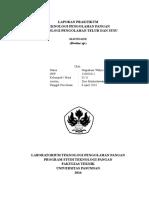 Laporan Praktikum Teknologi Pengolahan Pangan Mayonaise