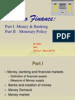 Money Banking Monetary Policy