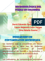 CALIDAD MICROBIOLÓGICA DEL AGUA POTABLE EN COLOMBIA.pptx