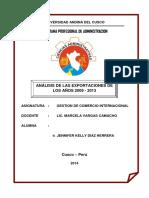 Análisis de Las Exportación Peruanas Desde 2009