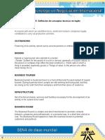 Evidencia 11 Definicion de Conceptos Tecnicos en Ingles