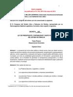 Ley Presupuesto Gasto Publico 18-May-2015