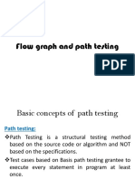 Flow Graph and Path Testing