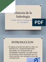 Historia de La Hidrologia Cristian