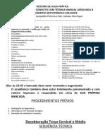 ROTEIRO DESOBTURAÇÃO - ENDODONTIA