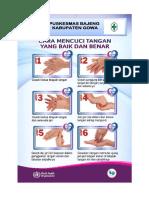 6 Langkah Cuci Tangan Who