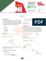 Solucionario Física y Química Examen UNI 2017-2