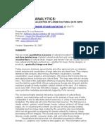 Cultural Analytics - Lev Manovich (artículo)