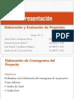 Presentación Cronograma Del Proyecto