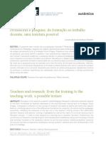Professores e Pesquisa- Da Formação Ao Trabalho Docente, Uma Tessitura Possível