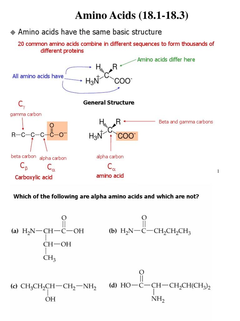 Amino acids notes amino acid chirality chemistry thecheapjerseys Choice Image