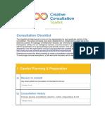 Consultation Checklist