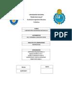 Informe de Metrología
