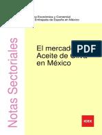El Mercado de Aceite de Oliva en Mexico