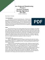 furniture design and manufacturing disclosure