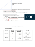 Binary Digital Modulation Summary