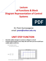 Lecture 2 Block Diagram Representation of Control Systems