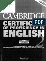 Cambridge Certificate of Proficiency in English 2