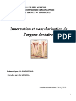Innervation Et Vascularisation de Lorgane Dentaire