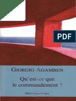 AGAMBEN, Giorgio - Qu'Est-ce Que Le Commandement