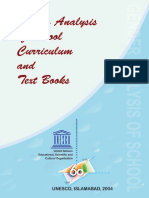 Gender Analysis of School Curriculum and Text Books