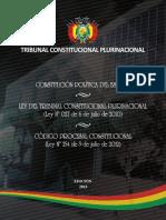 Tribunal Consticuional, Constitución y Codigo Procesal Constitucional de Bolivia