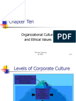 OB-23 Ch10-Organizational Culture and Ethical Values