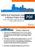 WIDA ELD Standards Framework Implementation in Boston Public Schools 2012-2015