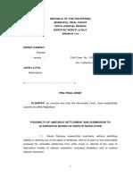 Pre-trial brief - Sum of Money.pdf