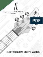 Mayones Guitar Manual En