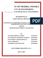 Happy Rentals Business Plan Cover Page