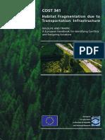 Habitat Fragmentation Due to Transprt Infrastruct COST341_Handbook