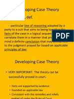 Lcsr Notes Re Developing Case Theory 20170622