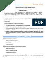 Guía de Estudio Primer Parcial Matemáticas III
