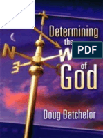 Determining the Will of God - Doug Batchelor.epub