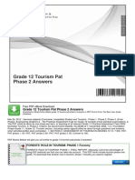 Grade 12 Tourism Pat Phase 2 Answers | Tourism | Educational Assessment