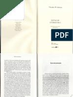 Adorno, T. - Sinais de Pontuação, In Notas de Literatura I